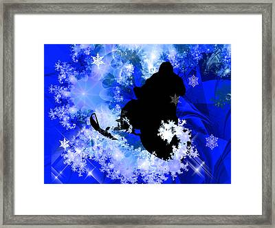 Snowmobiling In The Avalanche  Framed Print by Elaine Plesser
