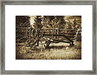 Snowplow Sepia Framed Print