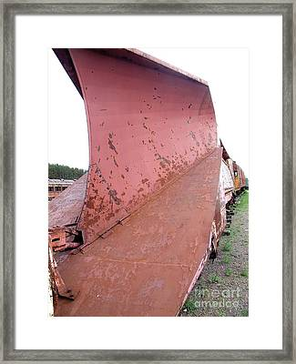 Snowplow2 Framed Print by The Stone Age