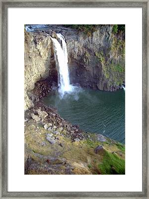 Snowqualmie Falls 2 Framed Print by Steve Ohlsen