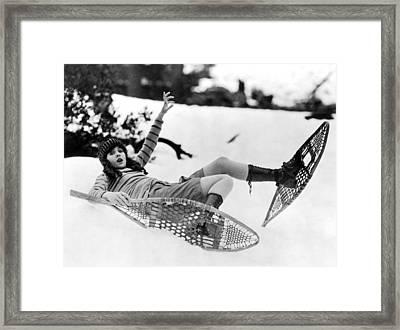 Snowshoeing Framed Print by American School