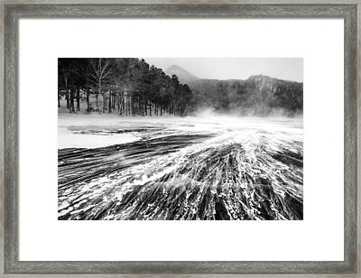 Framed Print featuring the photograph Snowstorm by Hayato Matsumoto