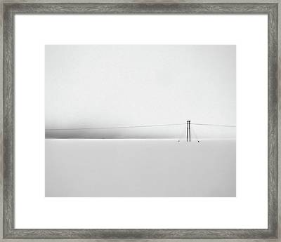 Snowstorm In Iceland Framed Print by Winnie Chrzanowski