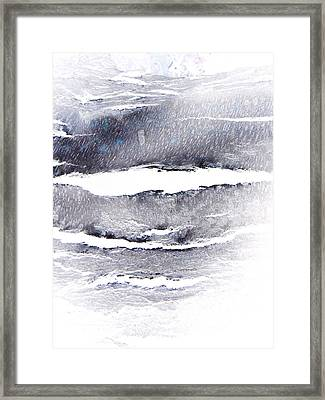 Framed Print featuring the photograph Snowstorm In The High Country by Lenore Senior