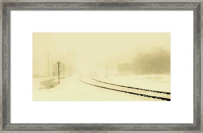 Snowstorm In The Yard S Framed Print