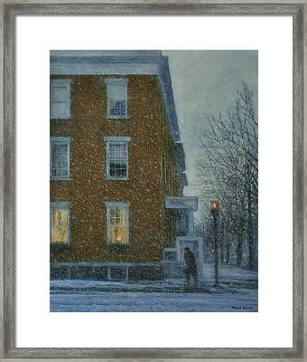 Snowstorm On Albany Street Framed Print
