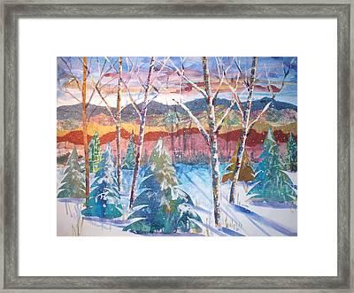 snowy Afternoon Framed Print by Joyce Kanyuk