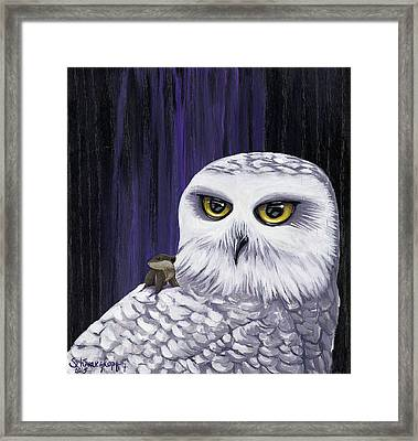 Snowy And Lemming Framed Print by Kimberly Schwarzkopf