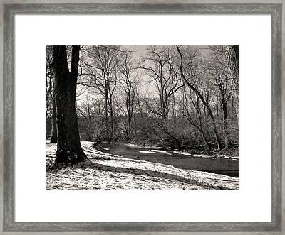 Snowy Banks Framed Print by Gordon Beck