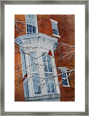 Snowy Bay Framed Print