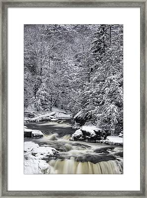 Snowy Blackwater Framed Print