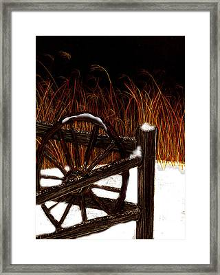 Snowy Break Framed Print by Michelle Audas