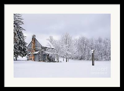 West Virginia Snow Scene Framed Prints