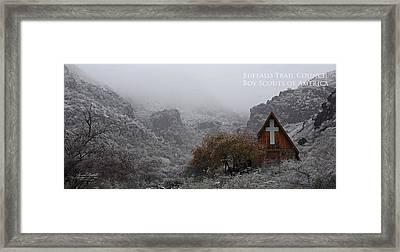 Snowy Chapel Framed Print by Aaron Bedell