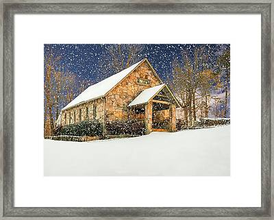 Snowy Cloudland Presbyterian Church  Framed Print