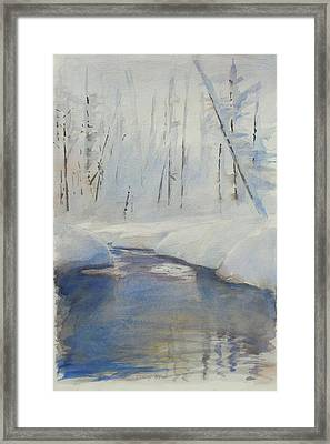 Snowy Creek Framed Print by Harley Harp