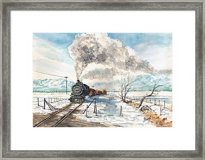 Snowy Crossing Framed Print