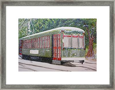Snowy Day In New Orleans Framed Print