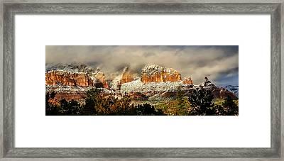 Snowy Day In Sedona Framed Print