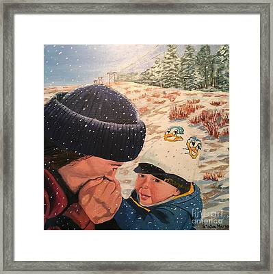 Snowy Day With My Dad Framed Print