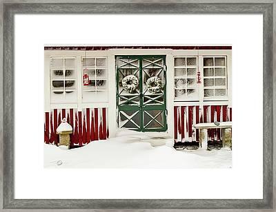 Snowy Doors Framed Print by Torbjorn Swenelius