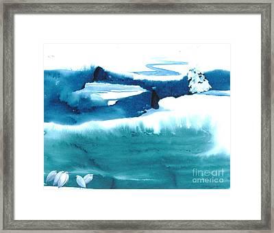 Snowy Egrets Framed Print by Mui-Joo Wee