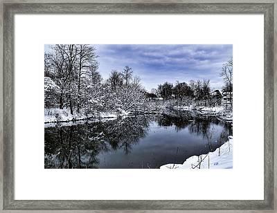 Snowy Ellicott Creek Framed Print