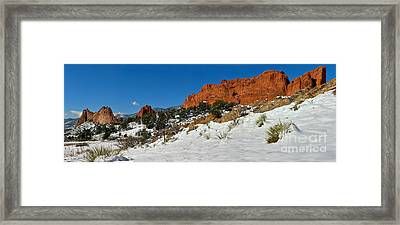 Framed Print featuring the photograph Snowy Fields At Garden Of The Gods by Adam Jewell