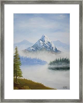 Snowy Landscape Framed Print by Christian  Hidalgo
