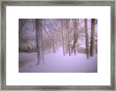 Snowy Landscape Framed Print by Mikki Cucuzzo