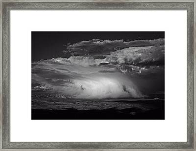 Framed Print featuring the photograph Snowy Mix Storm Over The Verde Valley by Ron Chilston