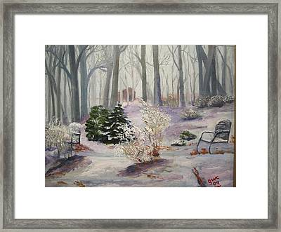 Snowy Morning Framed Print by Gloria Condon