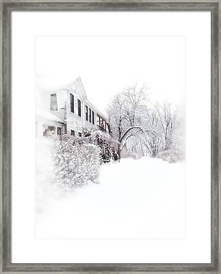 Snowy Morning  Framed Print