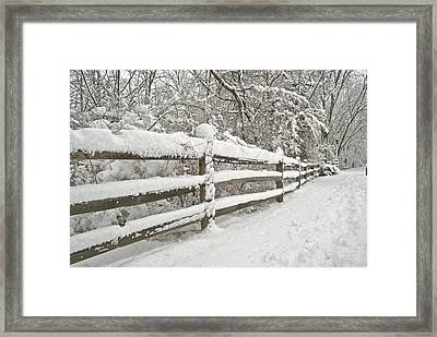 Snowy Morning Framed Print by Michael Peychich