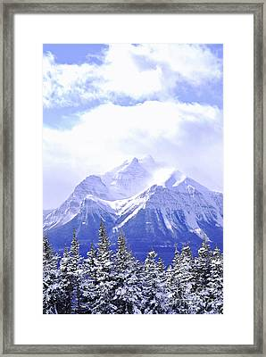 Snowy Mountain Framed Print by Elena Elisseeva