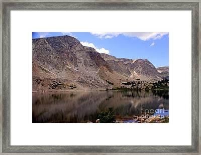 Snowy Mountain Loop 4 Framed Print by Marty Koch