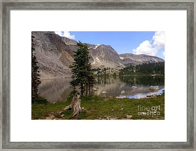 Snowy Mountain Loop 5 Framed Print by Marty Koch