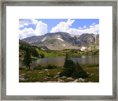 Snowy Mountain Loop 9 Framed Print