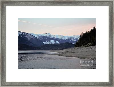 Framed Print featuring the photograph Snowy Mountains by Victor K