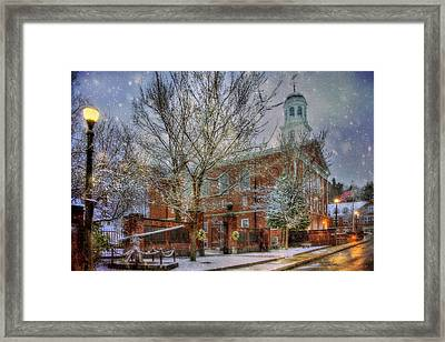 Snowy New England Morning In Peterborough New Hampshire Framed Print