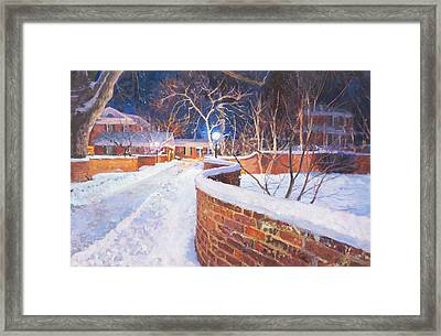 Snowy Night At The Serpentine Wall Framed Print