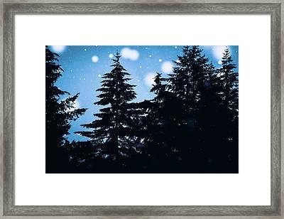 Snowy Night Framed Print by Debi Bishop