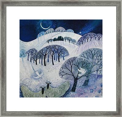 Snowy Night  Framed Print by Lisa Graa Jensen
