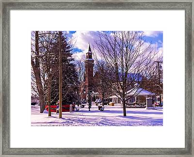 Snowy Old Town Hall Framed Print