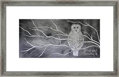 Snowy Owl Framed Print by Preethi Mathialagan