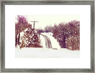Snowy Ozarks Byway Framed Print