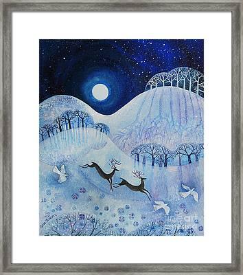 Snowy Peace Framed Print by Lisa Graa Jensen
