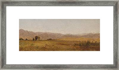 Snowy Range And Foothills From The Valley Of Valmo Framed Print