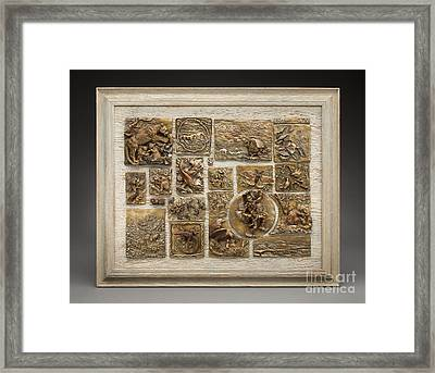 Snowy Range Life - Large Relief Panel Framed Print by Dawn Senior-Trask