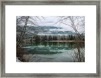 Snowy Reflection Framed Print